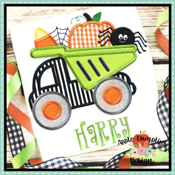 Halloween Dump Truck Applique Design