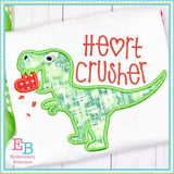 Heart Crusher Applique - embroidery-boutique