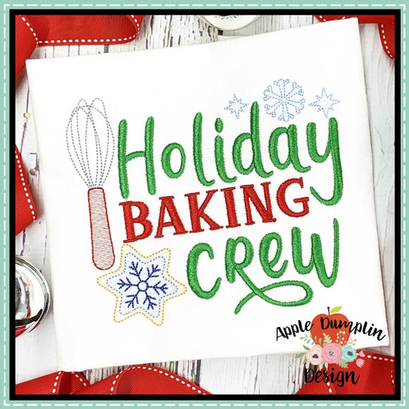 Holiday Baking Crew Sketch Embroidery Design