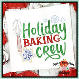 Holiday Baking Crew Sketch Embroidery Design, applique