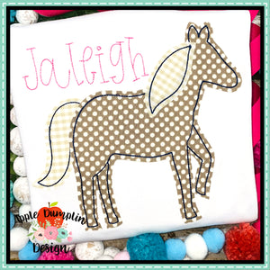 Horse Bean Stitch Applique Design, applique