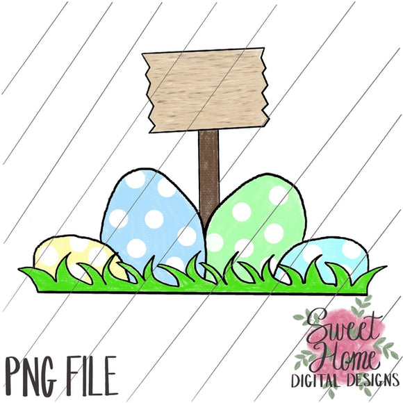 Easter Eggs with Sign Boy Dot PNG Printable