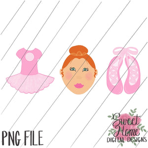 Ballet Trio Red Hair PNG Printable