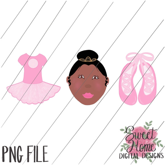 Ballet Trio African American PNG Printable