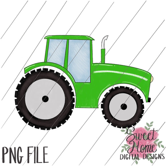 Tractor Green PNG Printable