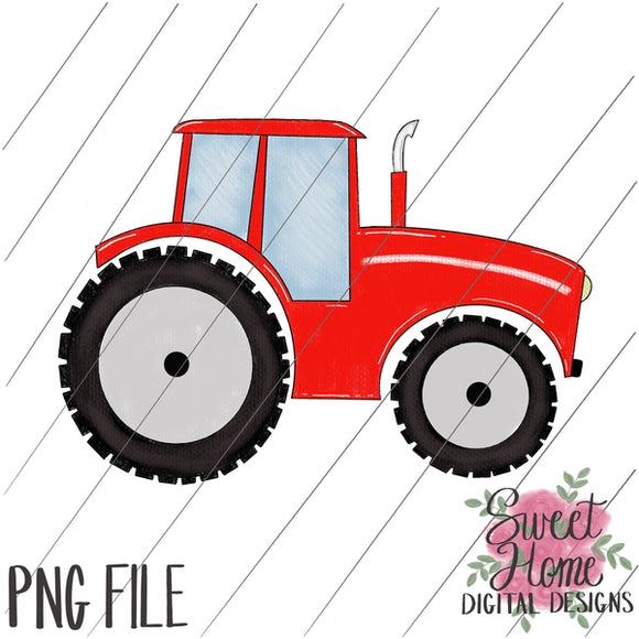 Tractor Red PNG Printable