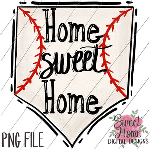 Home Sweet Home Baseball Plate PNG Printable