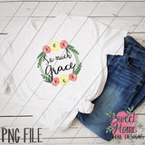 So Much Grace Floral Wreath PNG Printable