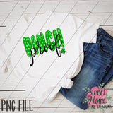 Polka Dot Pinch Proof St. Patrick's Day Design PNG Printable, Printable