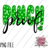 Polka Dot Pinch Proof St. Patrick's Day Design PNG Printable