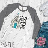It is Well with Vintage Chapel PNG Printable