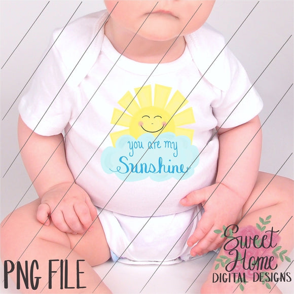 You are My Sunshine PNG Printable, Printable