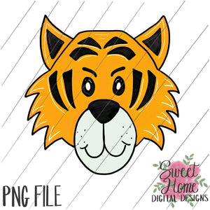 Tiger Face Black and Gold PNG Printable