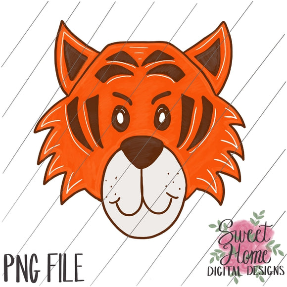 Tiger Face Brown and Orange PNG Printable, Printable