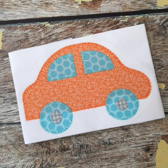 Car Blanket Stitch Applique Design, Applique