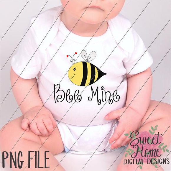 Bee Mine Valentine Design PNG Printable, Printable