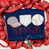 Hat Home Ball Trio Bean Stitch Applique-Embroidery Boutique