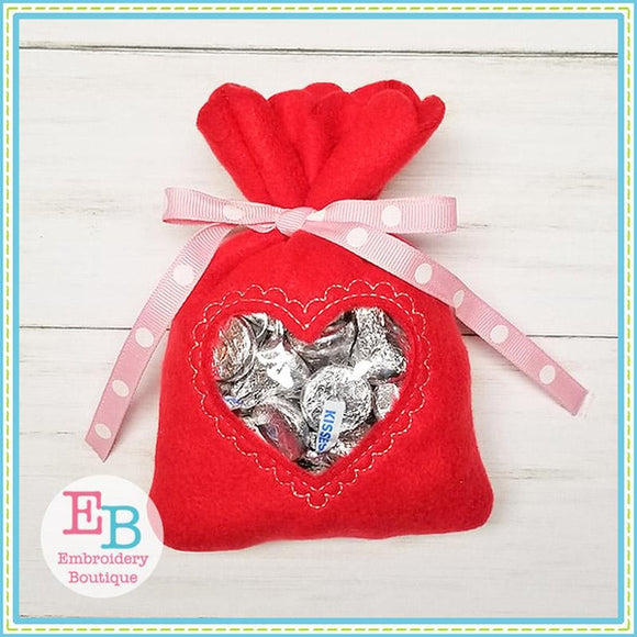 Heart In The Hoop Treat Bag