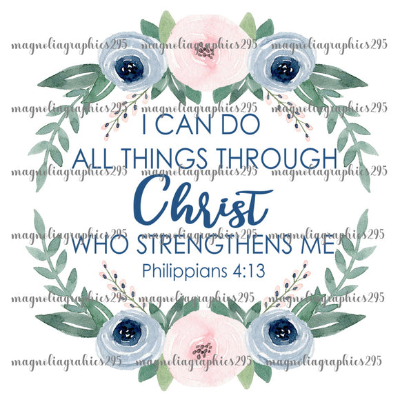 I can do all things through Christ Printable Design PNG