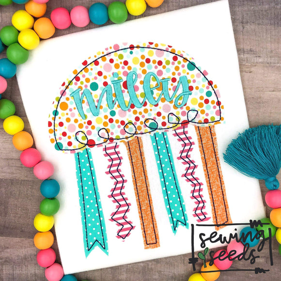 Jelly Fish Applique SS