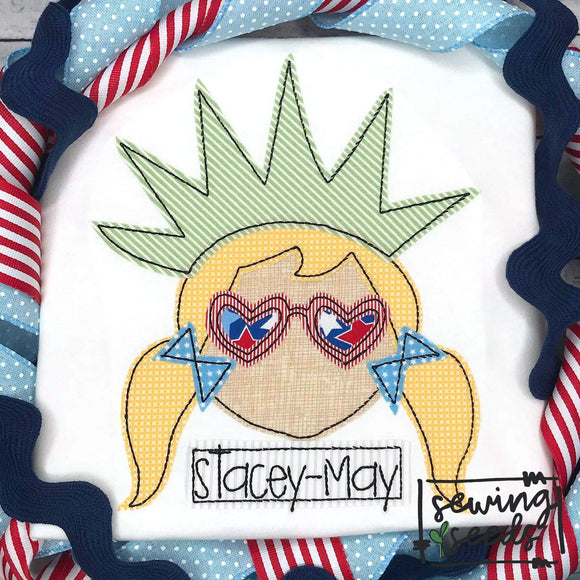 Lady Liberty Applique SS - Sewing Seeds