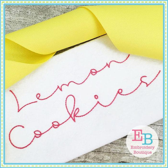 Lemon Cookies Embroidery Alphabet - Embroidery Boutique