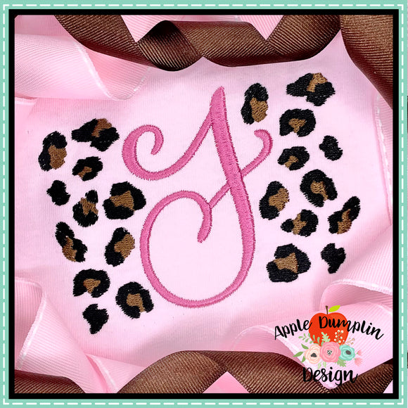 Build Your Own Leopard Spots Embroidery Design, applique