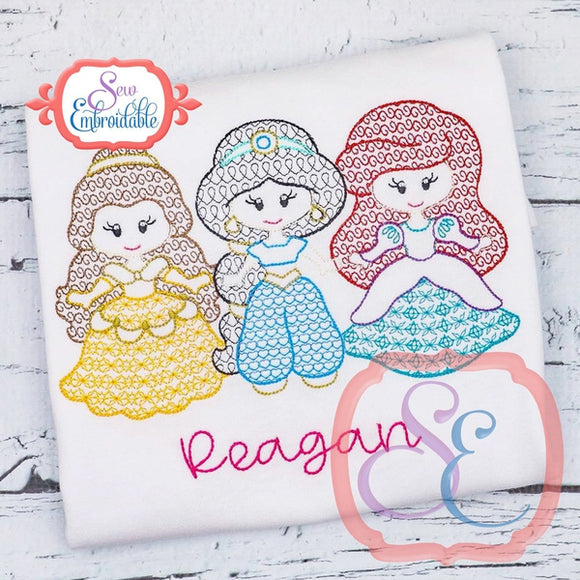 Little Princesses 456 Motif Design - embroidery-boutique