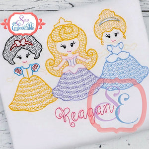 Little Princesses 123 Motif Design, Embroidery