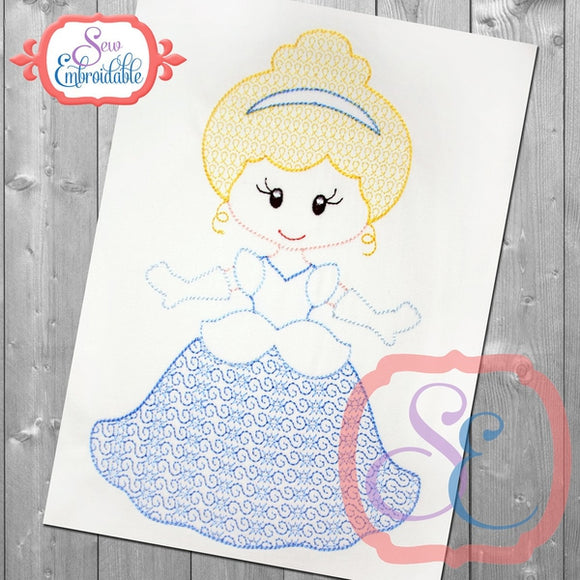 Little Princess 2 Motif Design - embroidery-boutique