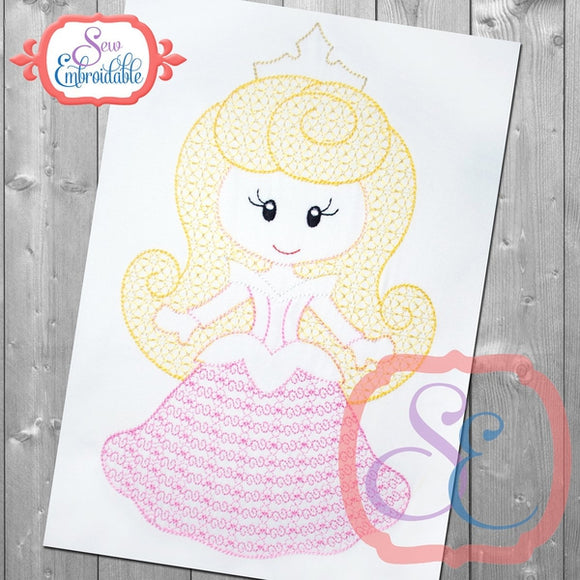 Little Princess 3 Motif Design - embroidery-boutique