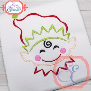 Little Elf Boy Outline - embroidery-boutique