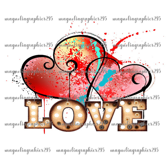 Love Printable Design PNG-Embroidery Boutique