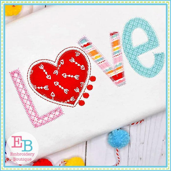 Love ZigZag Applique - embroidery-boutique