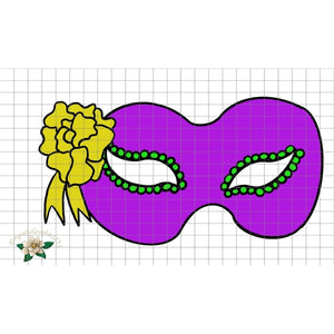 Mardi Gras Mask PNG Printable Design - embroidery-boutique