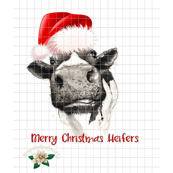 Merry Christmas Heifers PNG Printable