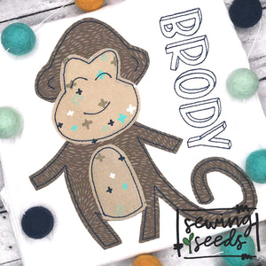 Monkey Applique SS - Sewing Seeds