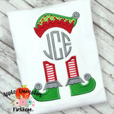 Elf Hat and Feet for Monogram Applique Design