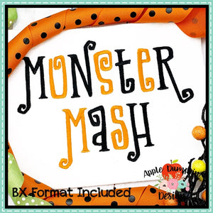 Monster Mash Embroidery Alphabet, Embroidery