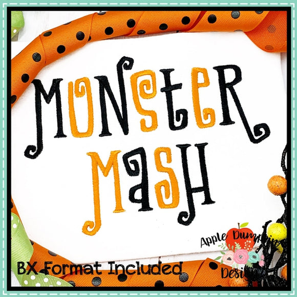 Monster Mash Embroidery Alphabet