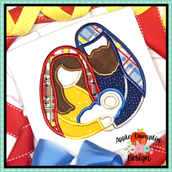 Nativity Satin Applique Design, Applique