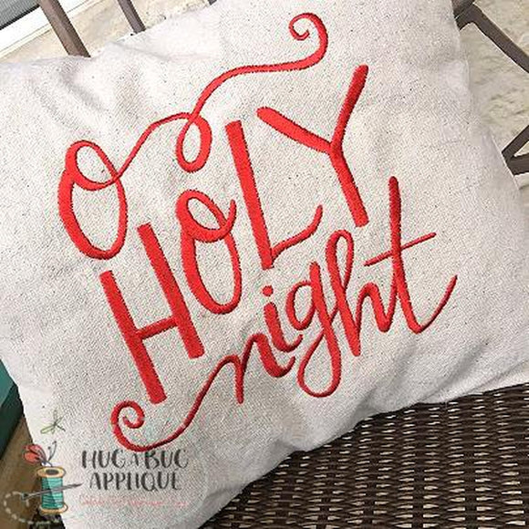 O Holy Night Christmas Embroidery Design, Embroidery