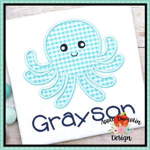 Octopus Satin Applique Design