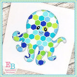 Octopus 2 Blanket Stitch Applique - embroidery-boutique