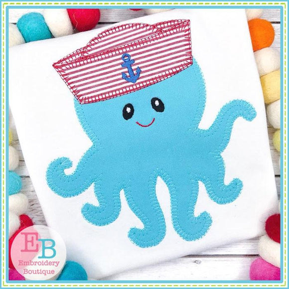 Octopus Hat Blanket Stitch Applique, Applique