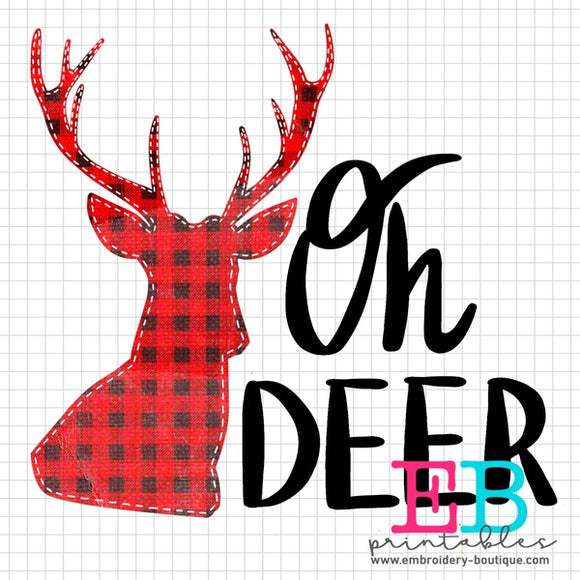 Oh Deer Printable Design PNG - embroidery-boutique