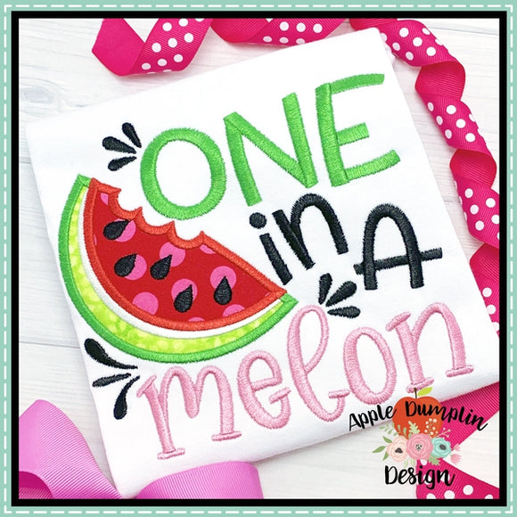 One in a Melon Applique Design