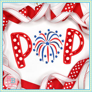 POP Firework Satin Applique