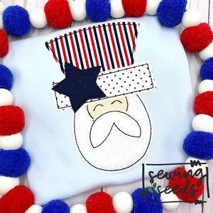 Patriotic Man Applique SS - Sewing Seeds