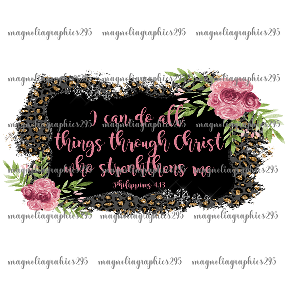 Philippians 4.13 Printable Design PNG-Embroidery Boutique